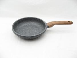 Koekenpan 20 cm, extra hoog model, graniet