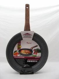 Koekenpan 28 cm, extra hoog model, graniet