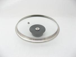 Glasdeksel 16 cm met stootrand