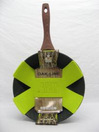 Hapjespan 28 cm met green Marble coating