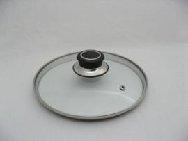 Glasdeksel 20 cm met stootrand