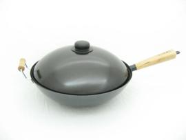 Wokdeksel 34,5 cm, met kunststof knop