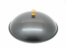 Wokdeksel 34,5 cm, met houten knop