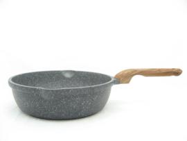 Hapjespan 28 cm, extra hoog model, graniet