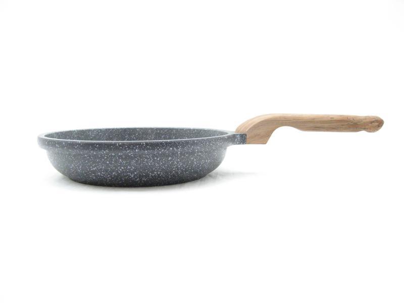 Koekenpan 24 cm, extra hoog model, graniet