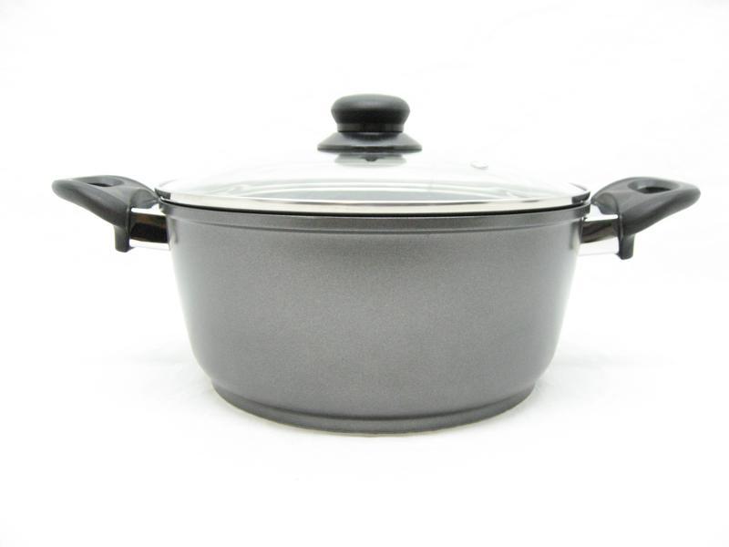 Braadpan / kookpan 24 cm met zwarte keramische laag