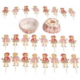 Cupcake Set DressUp Dolly - Dotcomgiftshop