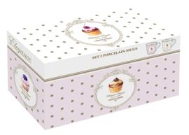 Mok Dots & Cupcakes (set van 2 stuks) - Easy Life