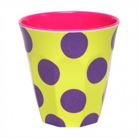 Beker Happy Dots Paars - Ginger