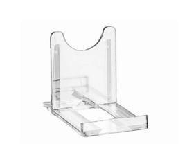 Bordenstandaard transparant 'klein'