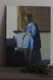 """Schilderij - """"de brieflezende vrouw"""""""