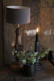 Staande houten lamp