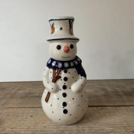 Sneeuwpop kandelaar 16 cm