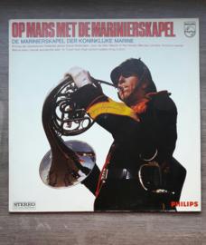 Vinyl lp: Op mars met de marinierskapel (de marinierskapel der koninklijke marine)