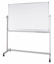 Whiteboard MAULstandaard, 120 x 220 cm, mobiel, kantelbaar, emaille