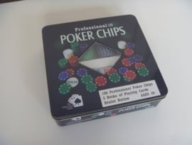 Pokerspel 'Professional pokerchips'