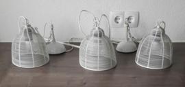 Set van drie mooie Riverdale hanglampen (gelakt metaal)