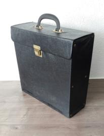 Vinyl lp's / langspeelplaten opbergkoffer, zwart (30 - 35 lp's)