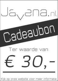 Cadeaubon Javena € 30,-