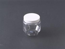 PET potje 250 ml transparant, incl. schroefdeksel