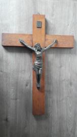 Vintage kruisbeeld / crucifix 'Inri'