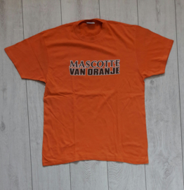 Origineel Holland/oranje fanshirt 'Mascotte van Oranje' (maat L)