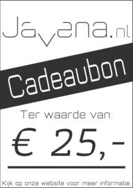 Cadeaubon Javena € 25,-