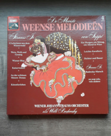 Vinyl lp: De mooiste Weense melodieën (Wiener Johann Straus) (4 LP)
