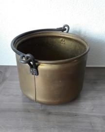 Vintage koperen emmer / bak