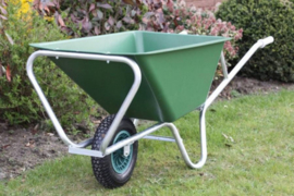 Kruiwagen SB 160 L 'enkel wiel' (PP/PE + volbad verzinkt)