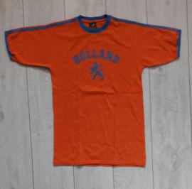 Origineel Holland/oranje fanshirt 'Holland + leeuw' (maat S)