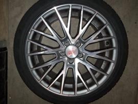 Set van 4 Dunlop autobanden inclusief 1000 Miglia velgen (17 inch)