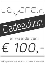 Cadeaubon Javena € 100,-