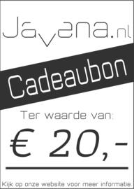 Cadeaubon Javena € 20,-