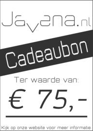 Cadeaubon Javena € 75,-