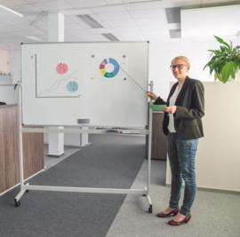 Whiteboard MAULstandaard, 120 x 180 cm, mobiel, kantelbaar