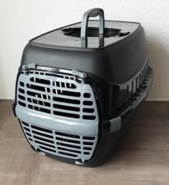 Transportbox katten/kleine honden (48 x 32 x 30 cm), zwart