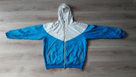 Originele Nike sportjas, wit / lichtblauw (maat XL)