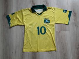 Replica Brazilië thuisshirt (Ronaldinho, 10) (maat: 152/158)