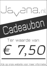 Cadeaubon Javena € 7,50