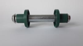 Massieve kruiwagen as 'enkel wiel' (12,5 cm)