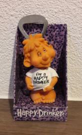 Happy Drinker flesopener 'For a Happy Drinker' (type 2)