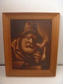 Schilderij 'Man met pijp'