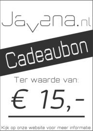 Cadeaubon Javena € 15,-