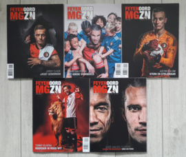 Feyenoord officiële clubmagazines 2018/2019 (editie 1 t/m 5)