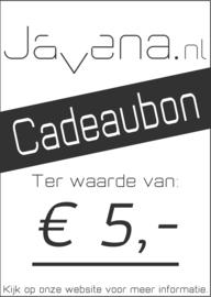 Cadeaubon Javena € 5,-