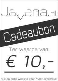 Cadeaubon Javena € 10,-