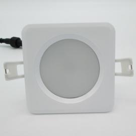Led inbouwspot SB 9W 'vierkant' (IP-65: spatwaterdicht)