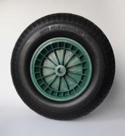 Kruiwagenwiel PU (anti-lek) 4.80 / 4.00-8, inclusief kunststof velg