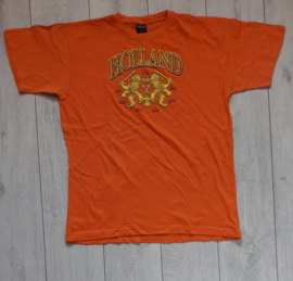 Origineel Holland/oranje fanshirt 'Holland + leeuwen' (maat L)